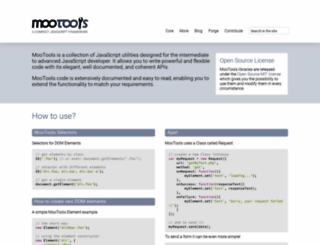mootools.net screenshot