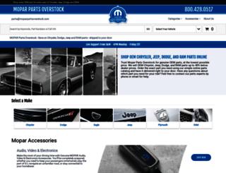 moparpartsoverstock.com screenshot