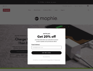 mophie.com screenshot