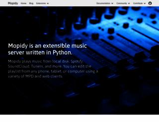 mopidy.com screenshot