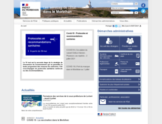morbihan.pref.gouv.fr screenshot