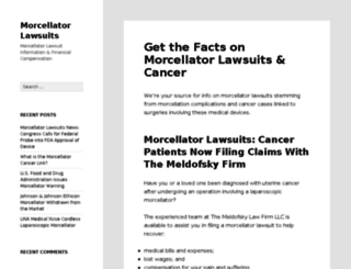 morcellatorlawsuits.info screenshot