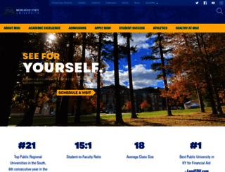 moreheadstate.edu screenshot