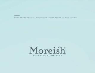 moreishskincare.com screenshot