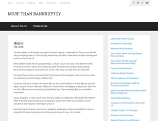 morethanbankruptcy.com screenshot