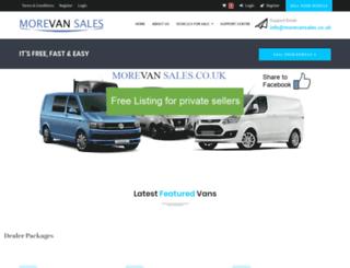 morevansales.co.uk screenshot