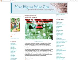 morewaystowastetime.blogspot.com screenshot