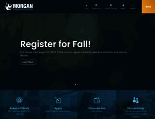 morgancc.edu screenshot