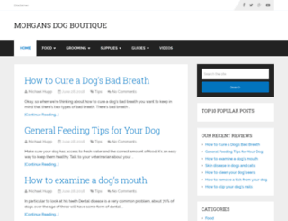 morgansdogboutique.com screenshot