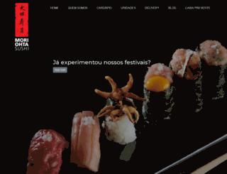 morisushi.com.br screenshot