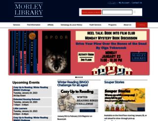 morleylibrary.org screenshot