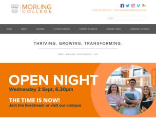 morling.nsw.edu.au screenshot