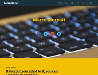 mornati.net screenshot