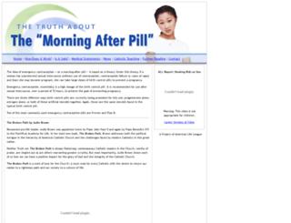 morningafterpill.org screenshot