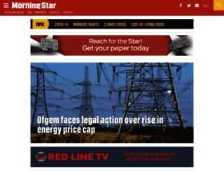 morningstaronline.co.uk screenshot