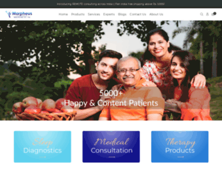 morpheushealthcare.com screenshot