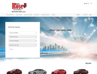 morris-rose-auto-parts-inc.autopartsearch.com screenshot
