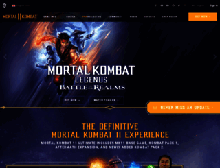 mortalkombat.com screenshot