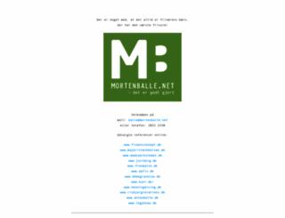 mortenballe.net screenshot