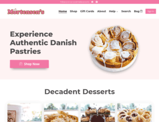 mortensensbakery.com screenshot