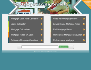mortgagecaculator.net screenshot