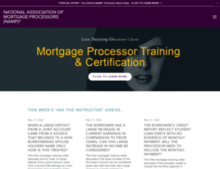 mortgageprocessor.org screenshot