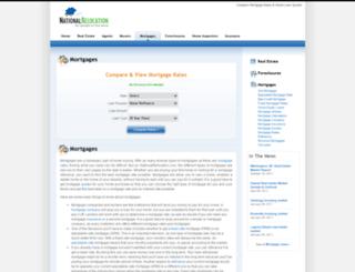 mortgages.nationalrelocation.com screenshot