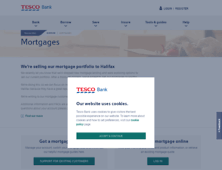 mortgages.tescobank.com screenshot