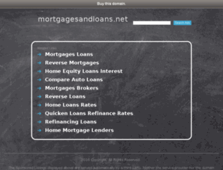 mortgagesandloans.net screenshot