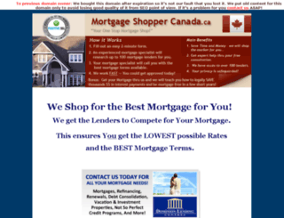 mortgageshoppercanada.ca screenshot