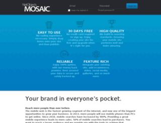 mosaic.netobjects.com screenshot