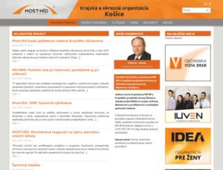 most-hid-ke.sk screenshot