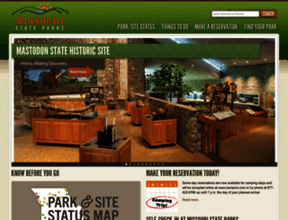mostateparks.com screenshot