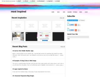 mostinspired.com screenshot