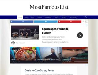 mostluxuriouslist.com screenshot