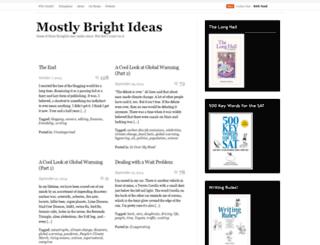 mostlybrightideas.wordpress.com screenshot