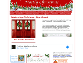 mostlychristmas.com screenshot