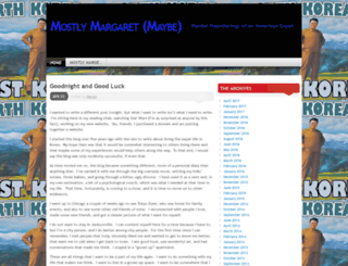 mostlymargaret.wordpress.com screenshot