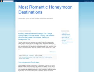 mostromantichoneymoondestinations.blogspot.com screenshot