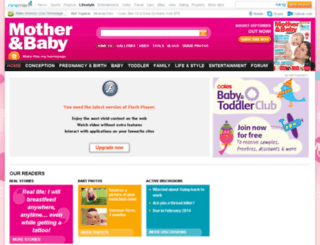 motherandbaby.ninemsn.com screenshot