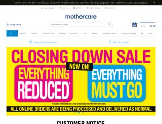 mothercare.com screenshot