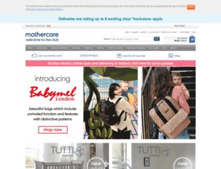 mothercare.ie screenshot