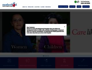 motherhoodindia.com screenshot