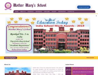 mothermarysschoolmayurvihar.com screenshot
