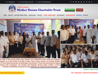 motherteresacharities.org screenshot