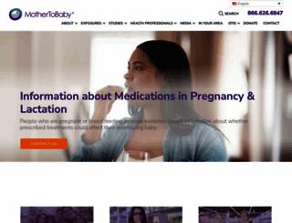 mothertobaby.org screenshot