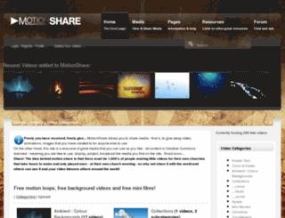 motionshare.com screenshot