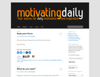 motivatingdaily.com screenshot