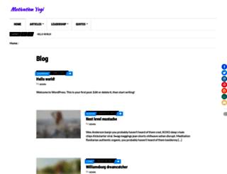 motivationyogi.com screenshot