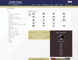 motobins.co.uk screenshot